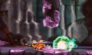 Charizard siendo atacado por un Plasma Wisp en Smashventura SSB4 (3DS).jpg