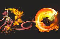 Vista previa de Fogonazo Final en la sección de Técnicas de Super Smash Bros. Ultimate