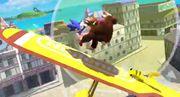 Sonic Pikachu y Donkey Kong en la Isla Pilotwings SSB4 (Wii U).jpg