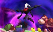 Darkrai junto a Luigi y Donkey Kong en Isla Tortimer SSB4 (3DS).jpg
