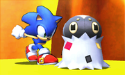 Sonic junto a Spewpa SSB4 (3DS).png