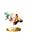 Trofeo de Golpe Trifuerza (Toon Link) SSB4 (Wii U).png