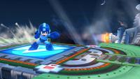 Mega Man usando la Bomba de choque en Super Smash Bros. para Wii U