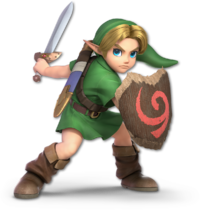 Art oficial de Link niño en Super Smash Bros. Ultimate.