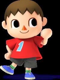Art oficial del Aldeano en Super Smash Bros. para Nintendo 3DS y Wii U.