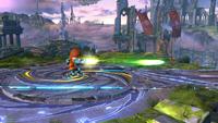 Tirador Mii utilizando el Rayo láser en Super Smash Bros. for Wii U.
