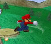 Ataque de recuperación de cara al suelo de Mario (2) SSBM.png