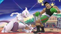 Mewtwo usando Anulación contra Little Mac en Super Smash Bros. para Wii U