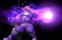 Ganondorf utilizando el movimiento en Super Smash Bros. Brawl