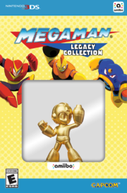 Embalaje del amiibo de Mega Man dorado (serie Legacy Collection).png