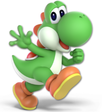 Art oficial de Yoshi en Super Smash Bros. Ultimate