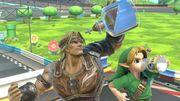 Simon y Link niño en el Circuito en 8 SSBU.jpg