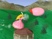 Lanzamiento delantero de Peach (2) SSBM.png