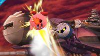 Meta Knight utilizando Lanzadera contra Kirby en Super Smash Bros. para Wii U