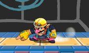 Ataque fuerte hacia abajo de Wario SSB4 (3DS).JPG