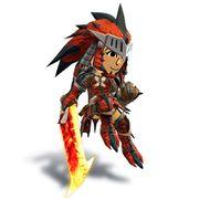 Artwork de la Espadachína Mii con el casco y malla de Rathalos.jpg