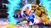 Mega Man y Bowser recibiendo el golpe de Little Mac en su maximo poder SSB4 (Wii U).png
