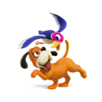 Art oficial del Dúo Duck Hunt en Super Smash Bros. para Nintendo 3DS y Wii U