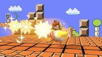 Daisy usando la Bomba Daisy en Super Smash Bros. Ultimate