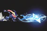 Vista previa de Shuriken de agua en la sección de Técnicas de Super Smash Bros. Ultimate