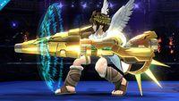 Pit con el Aurora completada en Super Smash Bros. para Wii U