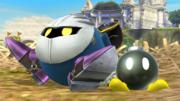 Meta Knight junto a un Bob-omb en Altarea SSB4 (Wii U).png