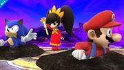 Ashley enterrando a Mario y a Sonic SSB4 (Wii U).jpg