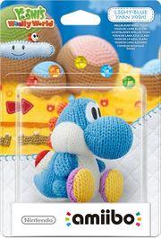 Embalaje del amiibo Yoshi de lana azul claro (serie Yoshi's Woolly World).jpg