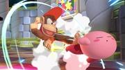 Diddy Kong y Kirby en El gran ataque de las cavernas SSBU.jpg