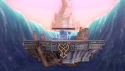Vista de del escenario al inicio de su recorrido en Super Smash Bros. Ultimate