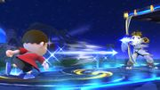 Aldeano lanzando una Flecha de Palutena SSB4 Wii U.jpg