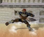 Ataque Smash hacia abajo de Ganondorf (2) SSBM.png