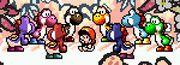 Grupo de Yoshis en SMW2 Yoshi's Island.jpg