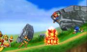 Sonic, Mario, Rey Dedede y Samus en el Smashventura.png
