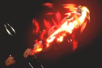Vista previa de Fox de fuego en la sección de Técnicas de Super Smash Bros. Ultimate