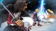 Shulk, Dunban y Riki en el Smash Final de Shulk SSB4 (Wii U).jpg