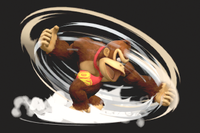 Vista previa de Trompo Kong/Peonza Kong en la sección de Técnicas de Super Smash Bros. Ultimate