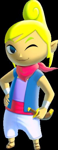 Art oficial de Tetra de The Legend of Zelda: The Wind Waker HD.