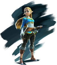 Art oficial de la Princesa Zelda en The Legend of Zelda: Breath of the Wild