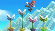 Plantas Piraña y Mario en Super Mario Maker SSBU.jpg