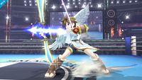 Pit cargando el Arco de Palutena en Super Smash Bros. for Wii U.