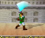 Ataque Smash hacia arriba de Link (2) SSBM.png