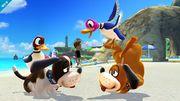 Duck Hunt parándose de cabeza SSB4 (Wii U).jpg