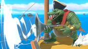 King K. Rool en el Barco pirata SSBU.png