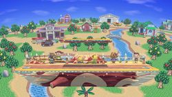 Vista del escenario en Super Smash Bros. Ultimate.