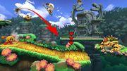 Pac Man, Donkey Kong, Pit y Bowser en la Jungla escandalosa SSB4 (Wii U).jpg