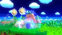 Sonic cargando el ataque en Super Smash Bros. para Wii U