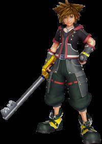 Art oficial de Sora en Kingdom Hearts III