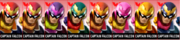 Paleta de colores de Captain Falcon SSB4 (3DS).png