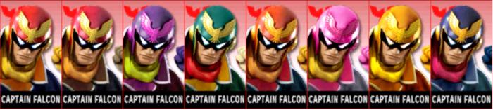 Paleta de colores de Captain Falcon SSB4 (3DS).png